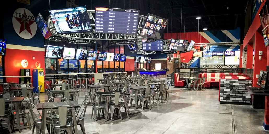 xtreme action park family entertainment center café interior design