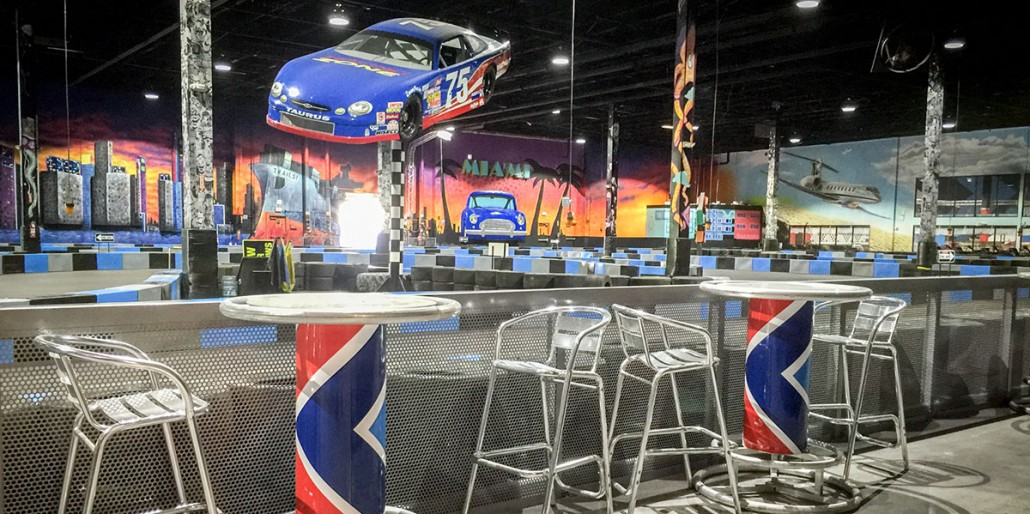 xtreme action park family entertainment center go kart track interior design