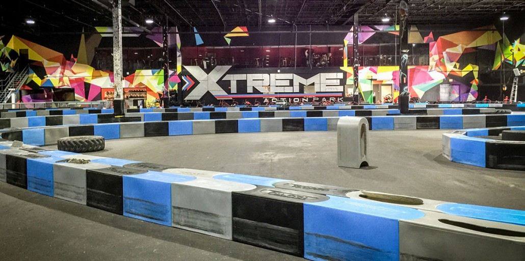 xtreme action park family entertainment center interior design