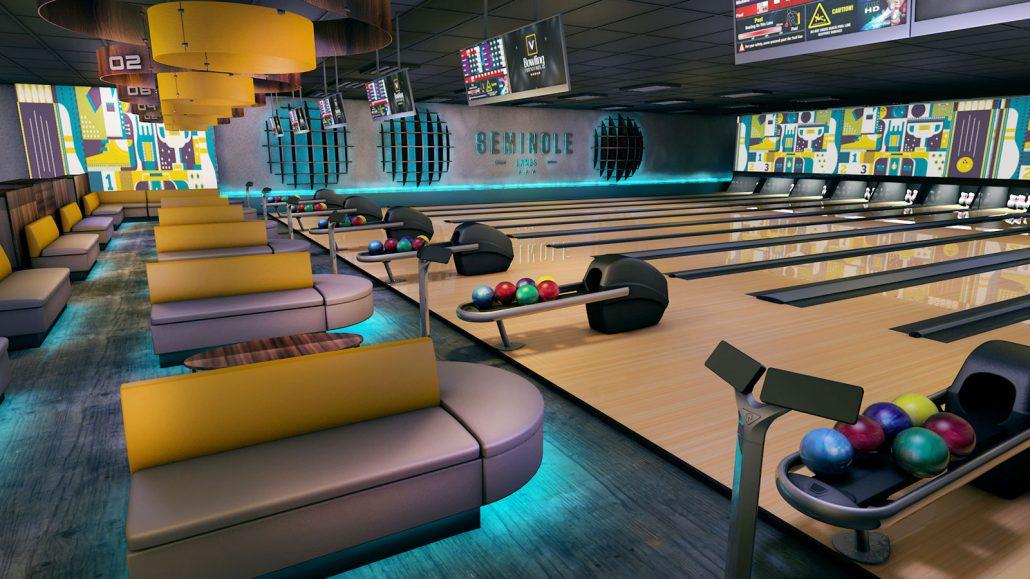 bowling center interior design