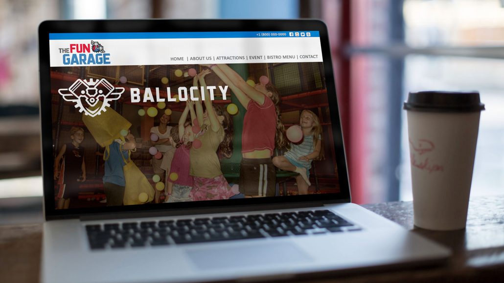 fun garage family entertainment center website design