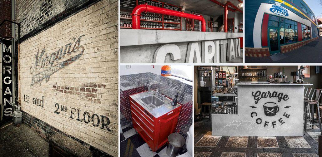 fun garage family entertainment center café moodboard