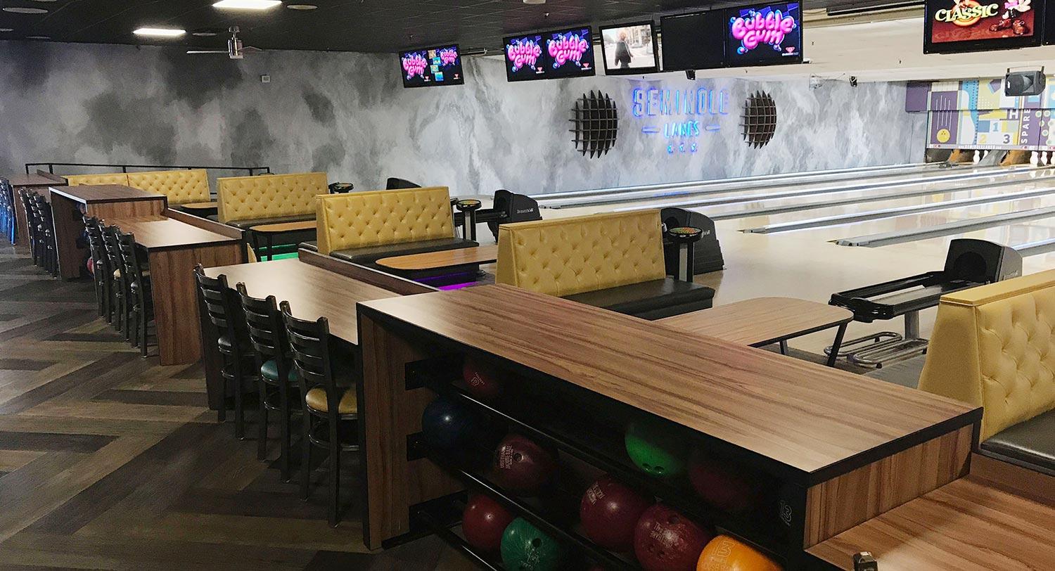 bowling center interior design